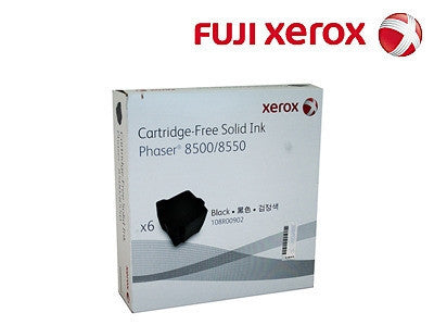 Xerox 108R00902 Genuine 6 Pack Black Ink Sticks