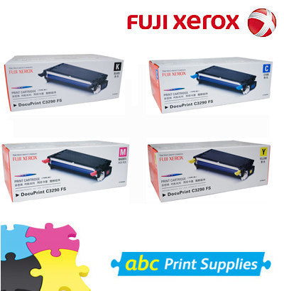 Xerox DocuPrint C3290FS genuine B.C.M.Y cartridge bundle