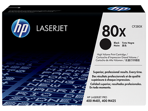 HP CF280X (HP 80X) Genuine H/Y LaserJet Cartridge