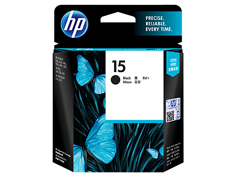 HP C6615DA (HI15) Genuine Black Ink Cartridge - 25ml - 495 pages