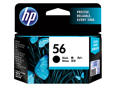 HP C6656AA (HI56) Genuine Black Ink Cartridge - 450 pages