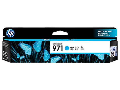 HP CN622AA (HI971C)  Genuine  Cyan Ink Cartridge - 2,500 pages
