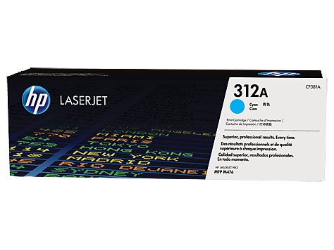 HP CF381A(HT312C)  Cyan Toner Toner Cartridge - 2,700 pages
