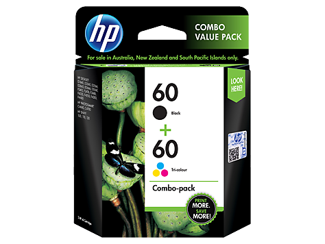 HP CN067AA (HI60BCT) Genuine Black and Colour ink Cartridge - Black, 200 pages Colour, 165 pages