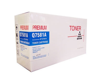HP Q7581A Cyan Toner Cartridge Remanufactured (Recycled)