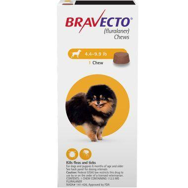 <B>Bravecto</B> 4.1-9.9lbs Yellow Chew Tabs (Carton of 10)
