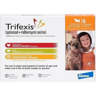 <B>Elanco</B> Trifexis Chewable Tablets for Dogs, 10-20 lbs, Orange Box, 10-Count Sleeve