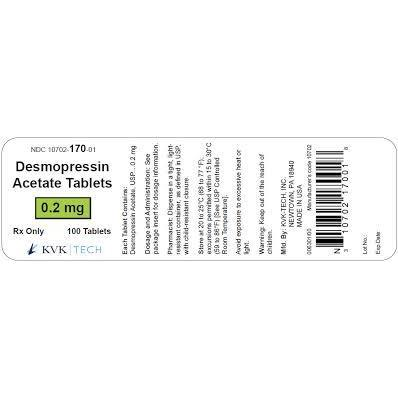 <B>KVK Tech</B> Desmopressin Acetate 0.2-mg Tablets (DDAVP STIMATE)