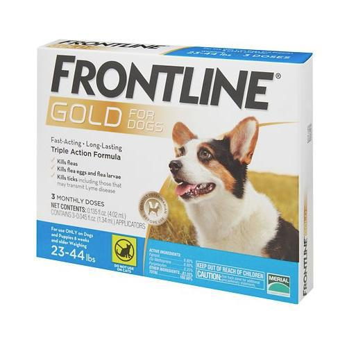 <B>Frontline Gold</B> Flea & Tick Treatment for Medium Dogs, 23-44 lbs