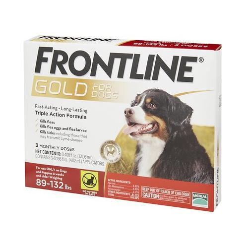 <B>Frontline Gold</B> Flea & Tick Treatment for Extra-Large Dogs, 89-132 lbs