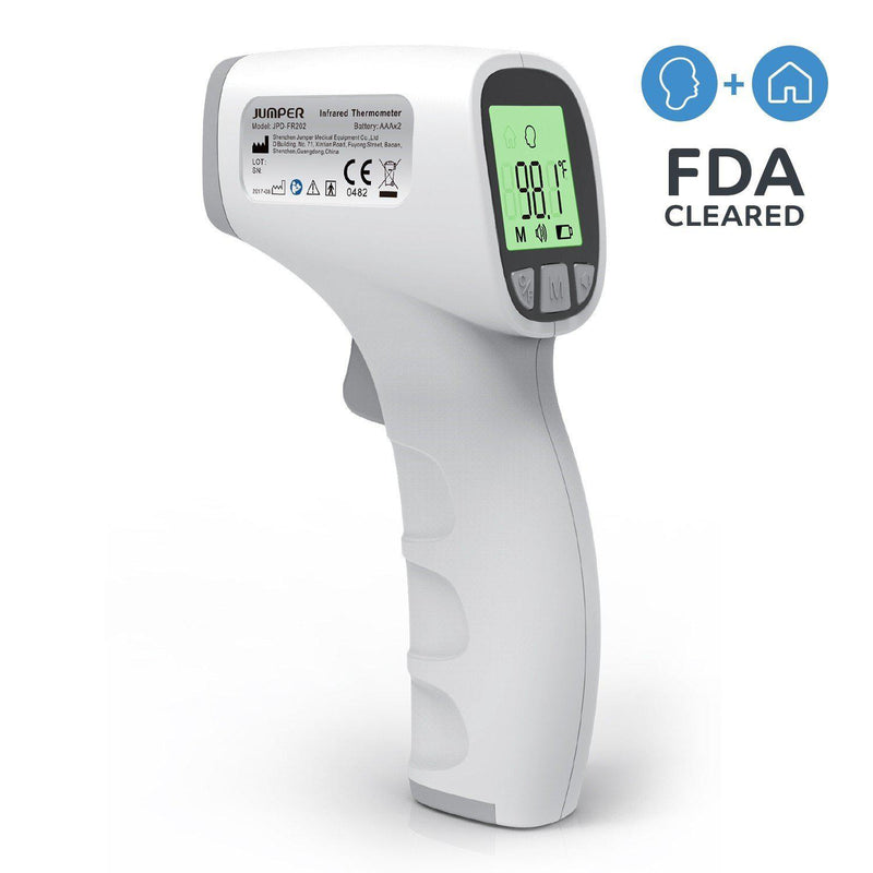 <B>Non Contact FDA Approved IR Thermometer- Jumper JPD-FR202