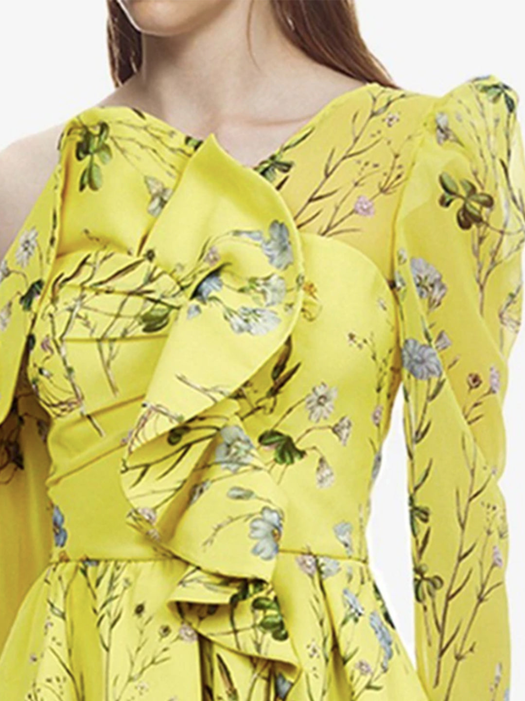 Gigi Ruffled Front Yellow Top