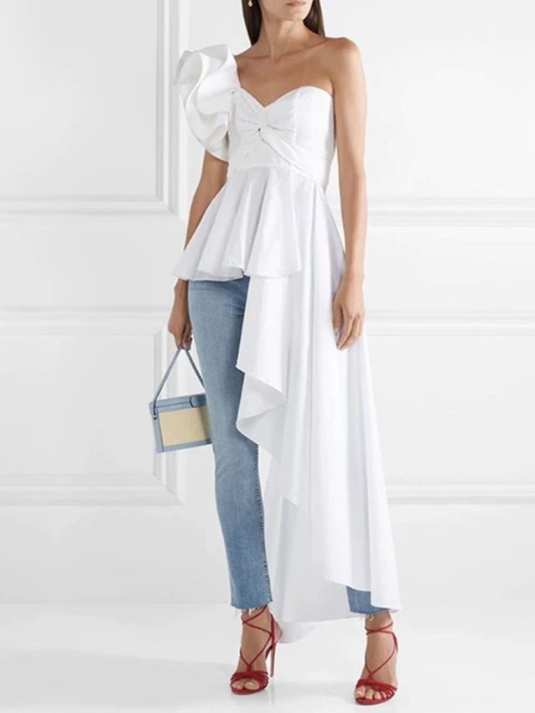 Kourtney One Shoulder Ruffled Top