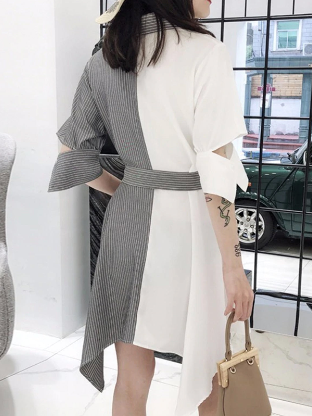 Eva Color Block Dress