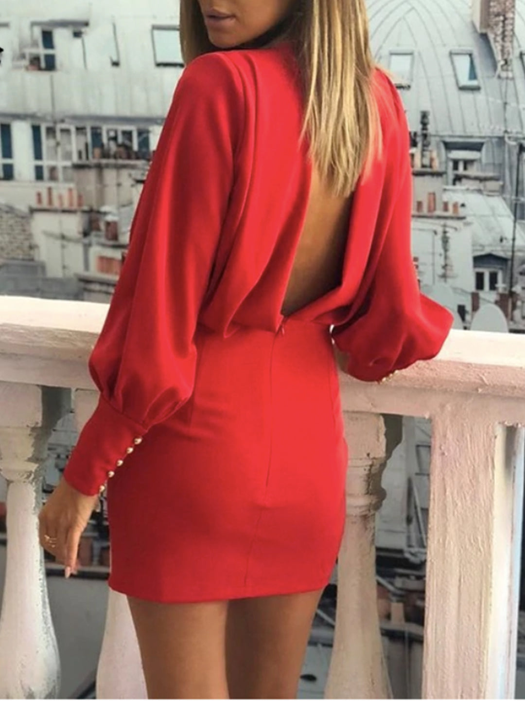 Chrissy Backless Dress