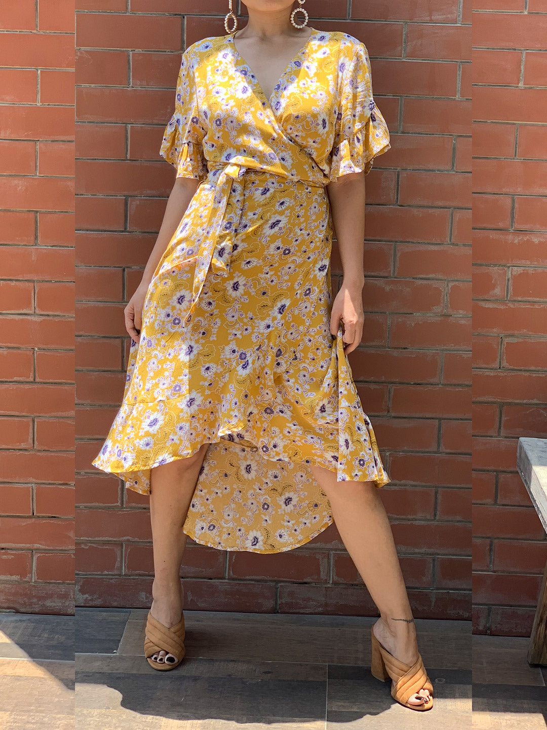 Buy Yellow Floral Summer Dress Online