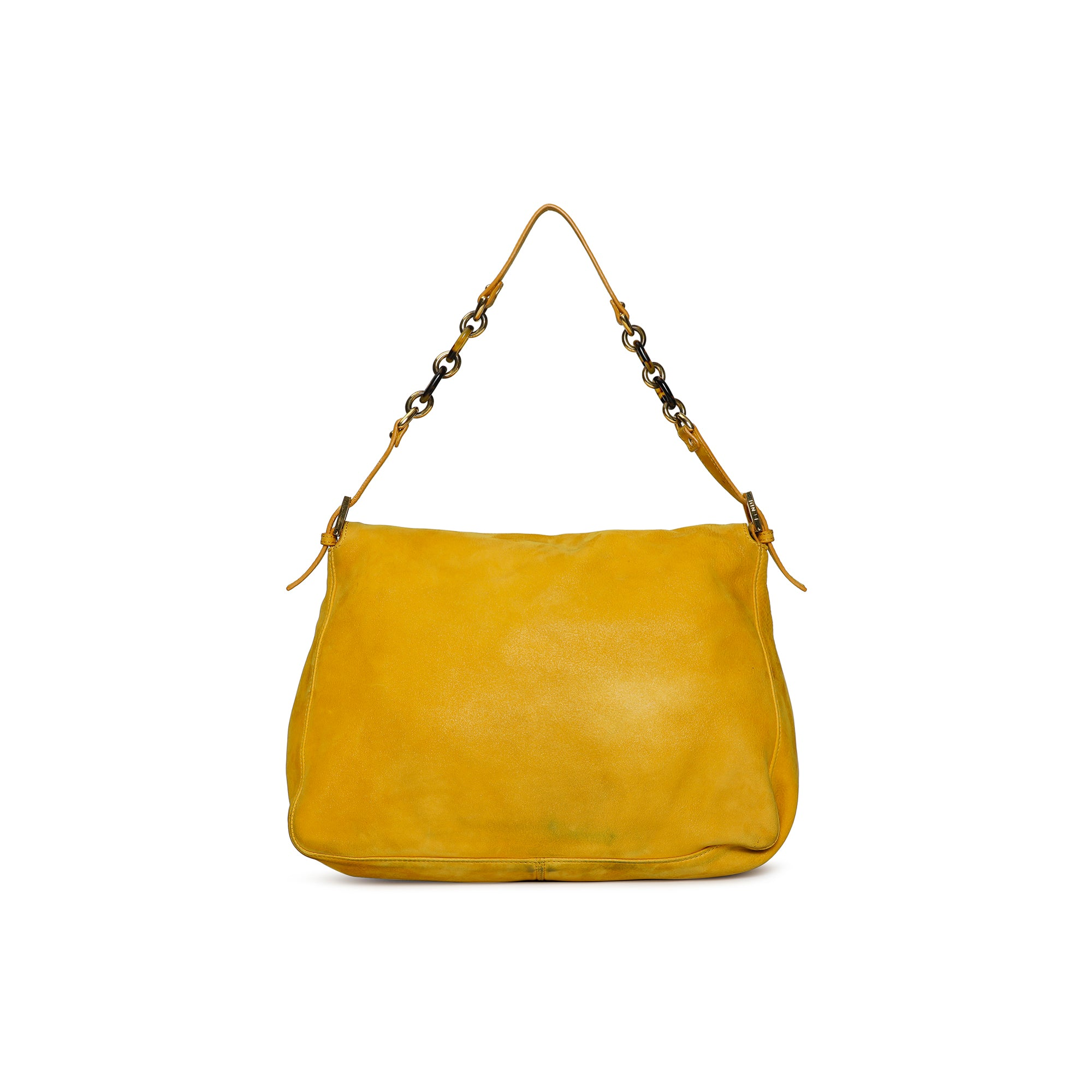 Fendi Zucca Shoulder Mustard Hobo Bag