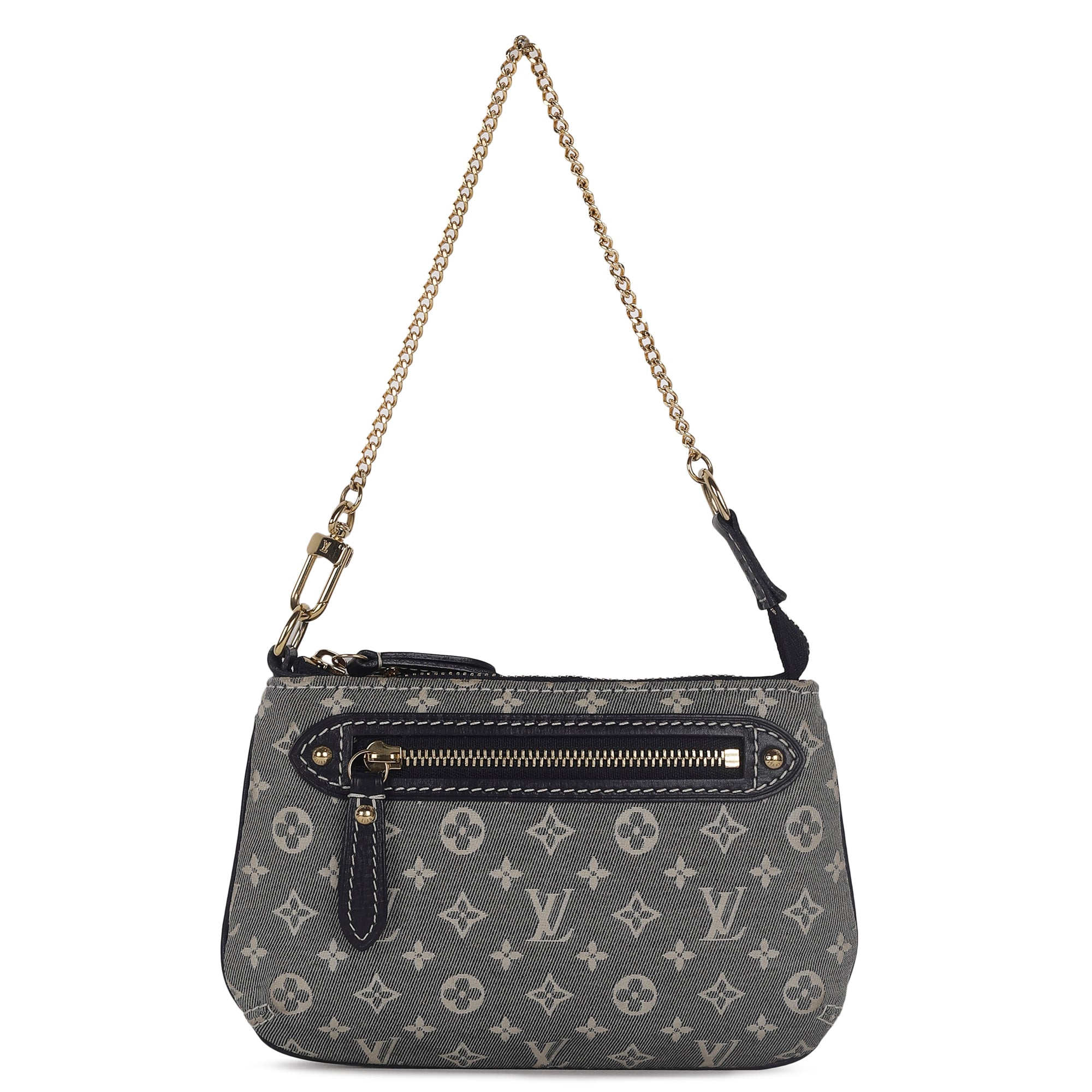 Louis Vuitton Monogram Idylle Black & Gold Fabric Wristlet