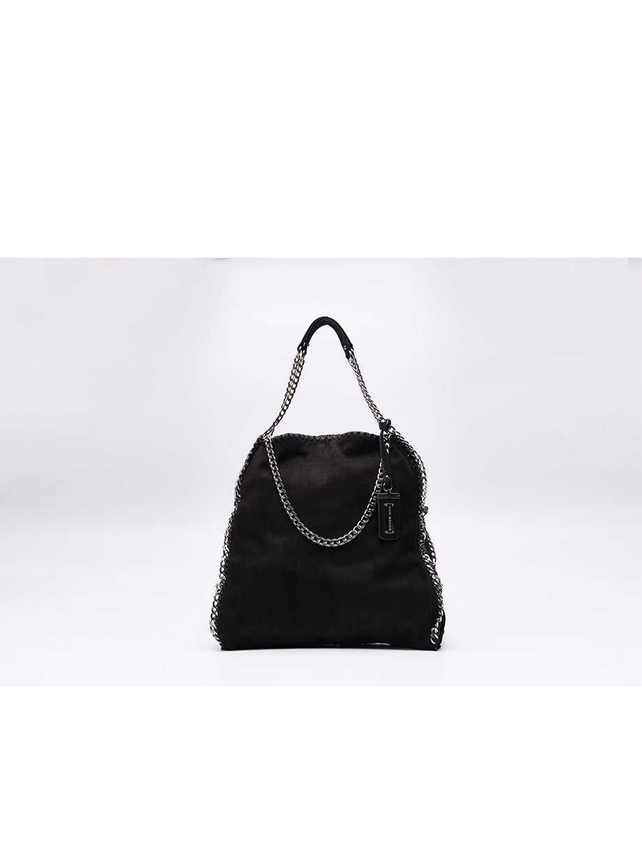 Black Steve Madden Faux Suede  Bag