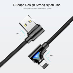 HOT SALE! L-TYPE 360 Degrees Magnetic Charge USB Cable(Perfect for game and video lovers)