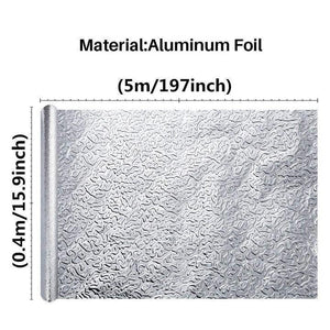 (Factory Outlet)-80%off-Waterproof Oil Proof Aluminum Foil Self Adhesive Wall Sticker