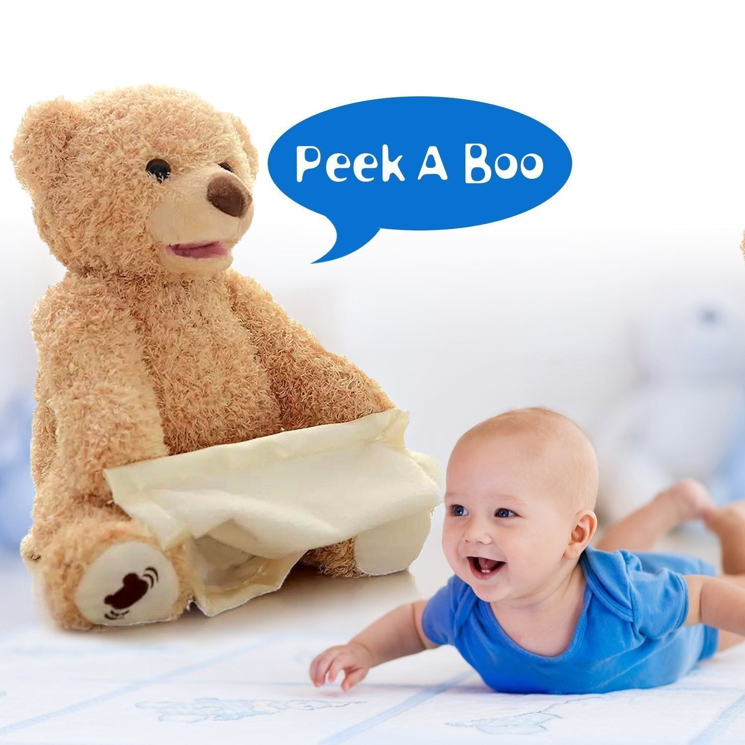 Plush Interactive Peek-A-Boo Bear-FREE SHIPPING FOR A LIMITED TIME ONLY!