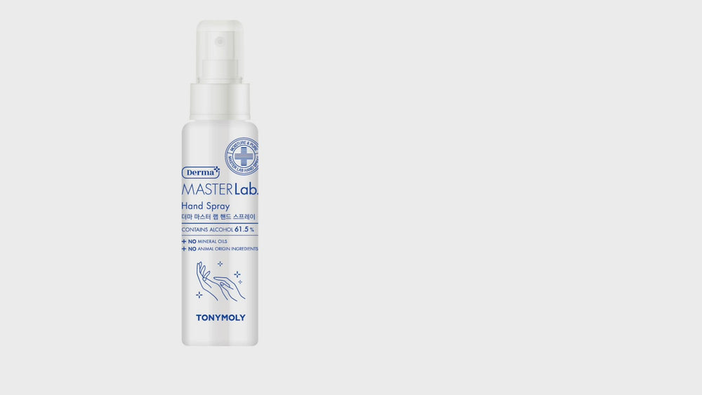 MasterLab Hand Sanitising Spray 85ml - contains 61.5% alcohol