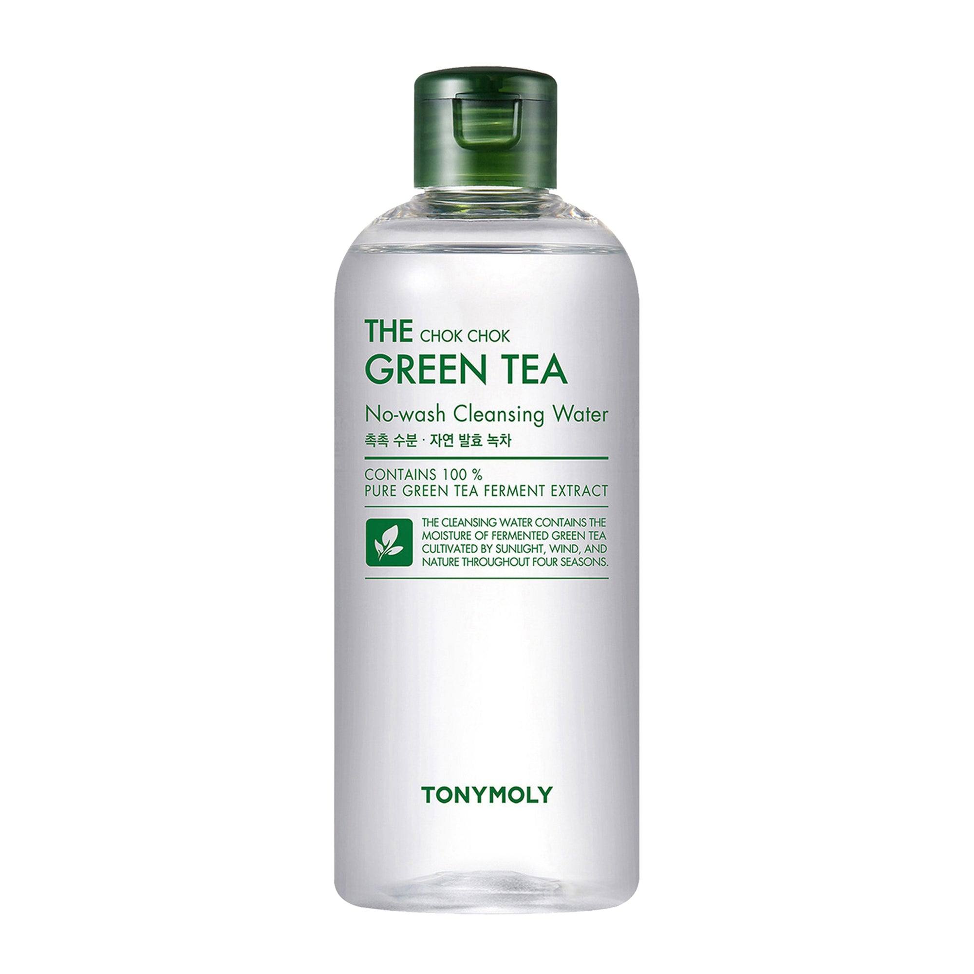 TONYMOLY The Chok Chok Green Tea No Wash Cleansing Water 300ml | Korean Skin Care