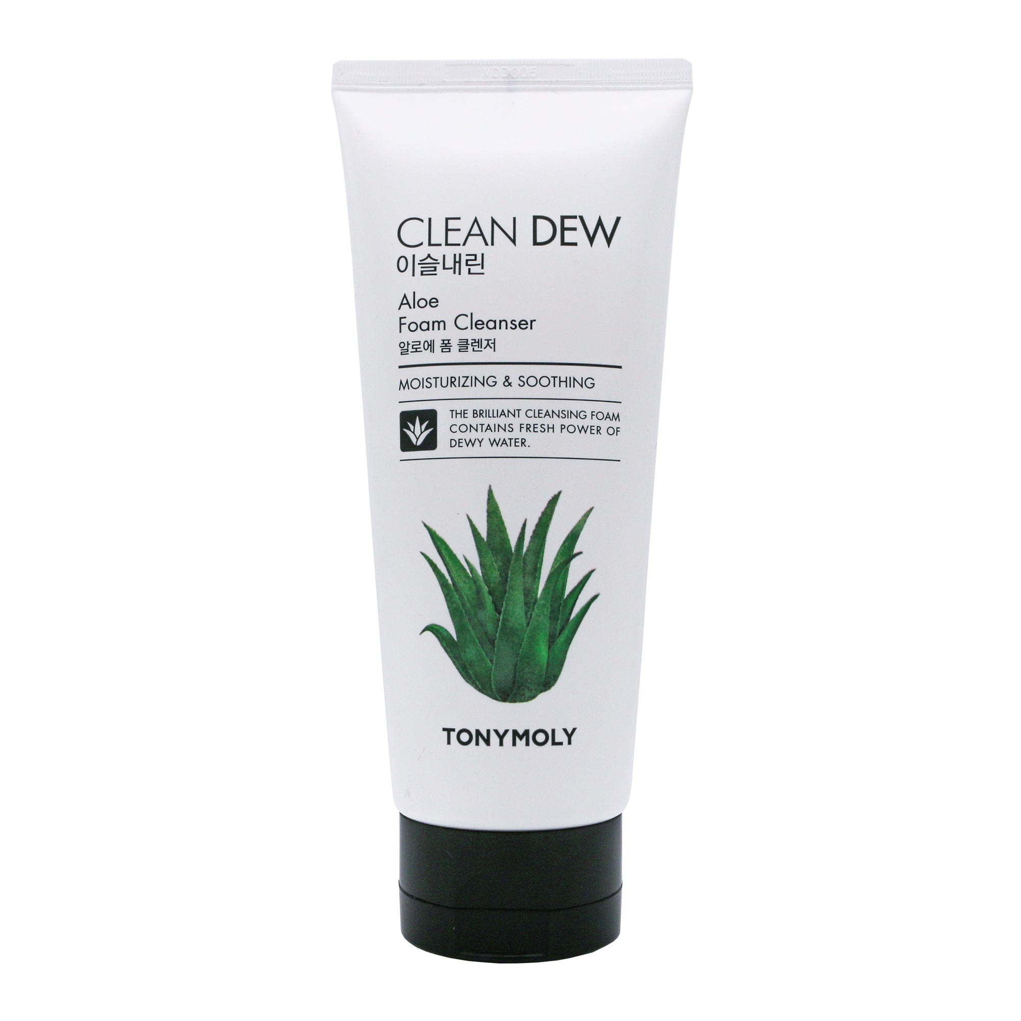 TONYMOLY Clean Dew Aloe Foam Cleanser | Moisturising ¦ Face ¦ Korean Skin Care - 180ml