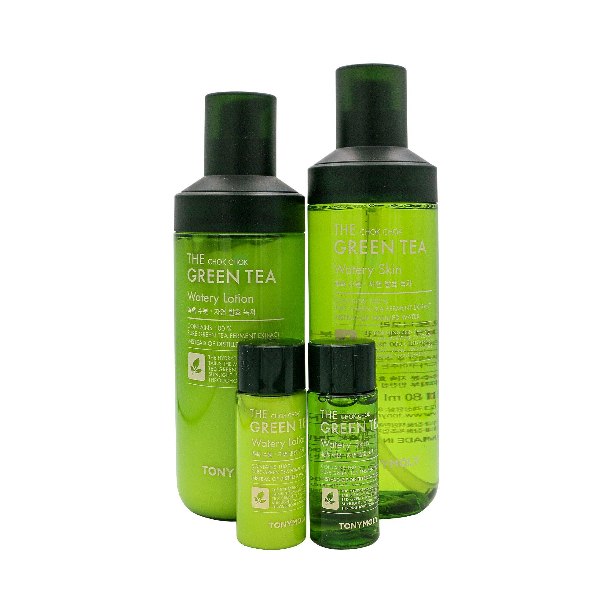 TONYMOLY The Chok Chok Green Tea Watery Skin Care Set - TONYMOLY OFFICIAL