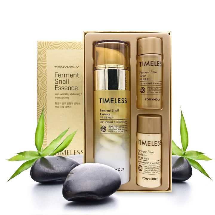 TONYMOLY TIMELESS FERMENT SNAIL ESSENCE BUNDLE - TONYMOLY OFFICIAL