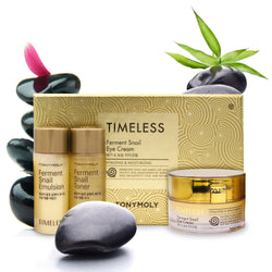 TONYMOLY Timeless Ferment Snail Eye Cream (Includes Free 20ml Ferment Snail Toner & 20ml Ferment Snail Emulsion) - TONYMOLY OFFICIAL