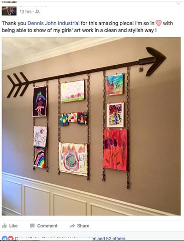Custom Reclaimed Arrow- Art Display