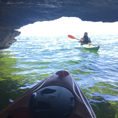 Kayak In A Cave- Door County, WI