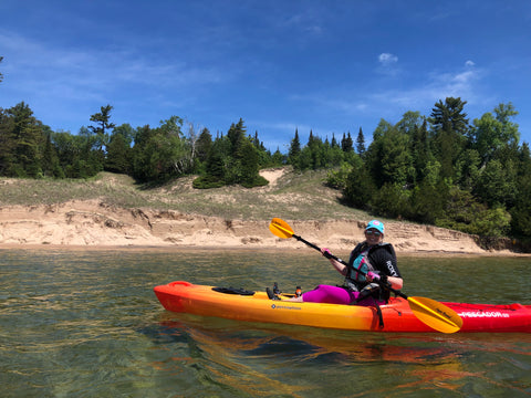 Milissa Kayaking at Whitefish Dunes- Door County, WI