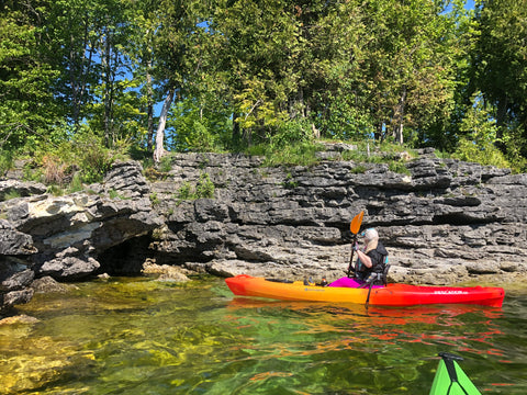 Milissa Kayaking at Cave Point- Door County