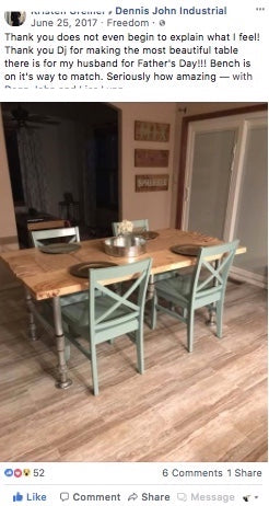 Custom Farmhouse Table- Wood & Pipe