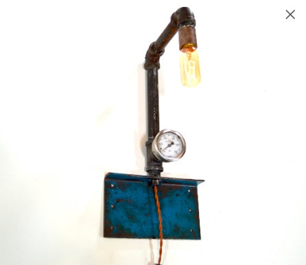 Light- Pipe & Gage Sconce