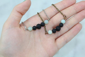 Diffusing Necklace- Light Blue Beads