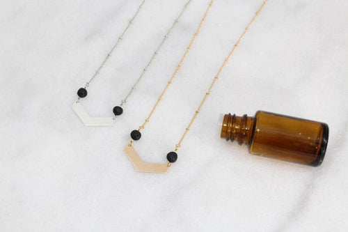 Diffusing Necklace- Gold Plate