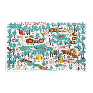"Puzzle- Wisconsin ""Up North"" Design"