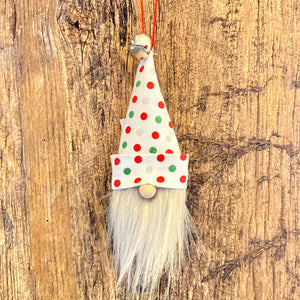 Fuzzy Beard Ornament- Polka Dots