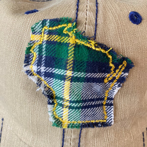 WI Hat- Khaki Plaid