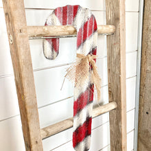 Load image into Gallery viewer, Metal Candycane- Red
