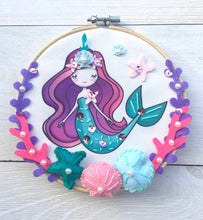Load image into Gallery viewer, Mermaid Embroidery Kit