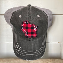 Load image into Gallery viewer, Hat- Buffalo Plaid WI