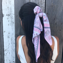 Load image into Gallery viewer, Hair Scarf - Pink Bandana