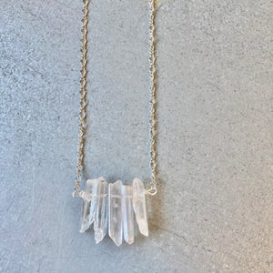 GS- Crystal Necklace,  Quartz