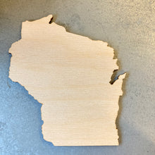 Load image into Gallery viewer, Wood WI Cutout - Large