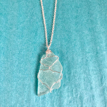 Load image into Gallery viewer, GS-Beach Glass Necklace, Aqua